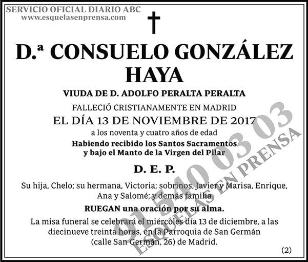 Consuelo González Haya